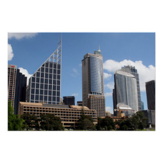 sydney buildings poster