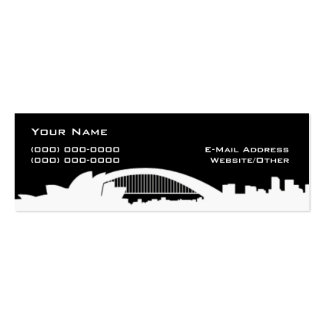 Sydney Double-Sided Mini Business Cards (Pack Of 20)