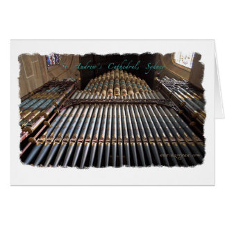 Sydney Cathedral pipe organ greeting card