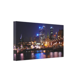 Sydney - Circular Quay At Night Canvas Print