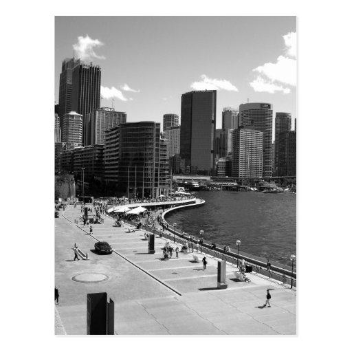 Sydney City Centre shot from Sydney Opera House Postcard