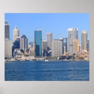 Sydney city panorama poster