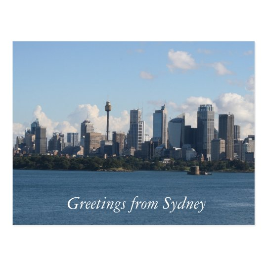 sydney city skyline postcard