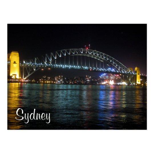 sydney coat hanger night postcard