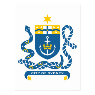 Sydney Coat Of Arms Postcard