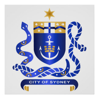 Sydney coat of arms poster