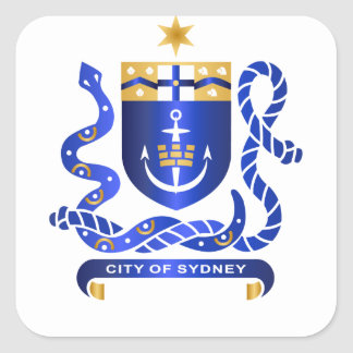 Sydney coat of arms square sticker