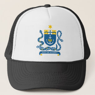 Sydney Coat Arms Baseball   Trucker Hats  1255e95df07