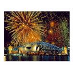 Sydney debajo de la postal de los fuegos