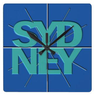 Sydney Finance Timezone Wall Clock