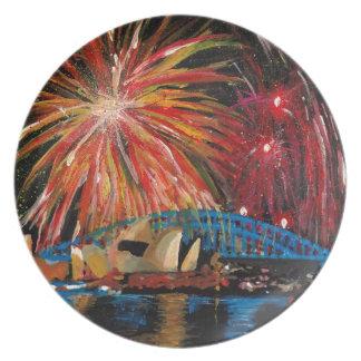 Sydney Firework at Opera House Party Plates