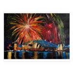 Sydney Firework at Opera House Postcard
