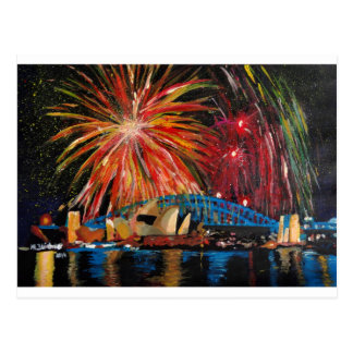 Sydney Firework at Opera House Postcard