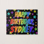 "[ Thumbnail: ""Sydney"" First Name, Fun ""Happy Birthday"" Jigsaw Puzzle ]"