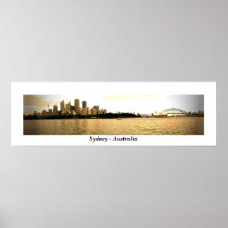 Sydney Gold Print