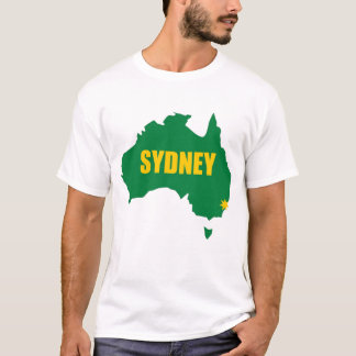 Sydney Green and Gold Map T-Shirt
