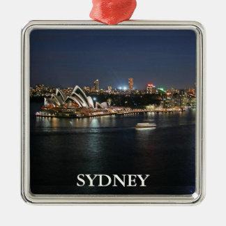 Sydney Harbor at Circular Quay Metal Ornament