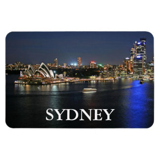 Sydney Harbor at Circular Quay Rectangular Photo Magnet