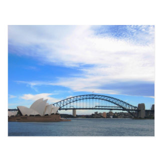 Sydney Harbor Bridge and Opera House Postcard
