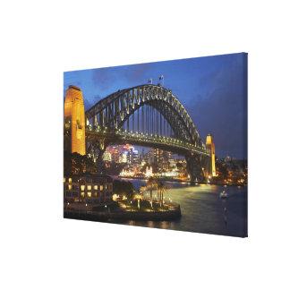 Sydney Harbor Bridge and Park Hyatt Sydney Hotel Gallery Wrapped Canvas