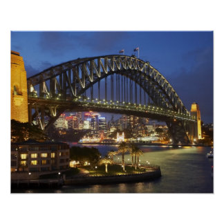 Sydney Harbor Bridge and Park Hyatt Sydney Hotel Poster