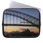Sydney Harbor Bridge and Sydney Opera House at 2 Computer Sleeve