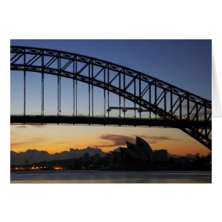 Sydney Harbor Bridge and Sydney Opera House at 2 Greeting Card