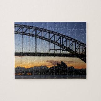 Sydney Harbor Bridge and Sydney Opera House at 2 Jigsaw Puzzles