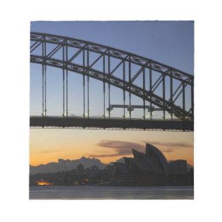 Sydney Harbor Bridge and Sydney Opera House at 2 Memo Pads