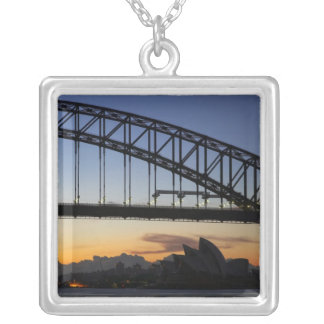 Sydney Harbor Bridge and Sydney Opera House at 2 Custom Necklace