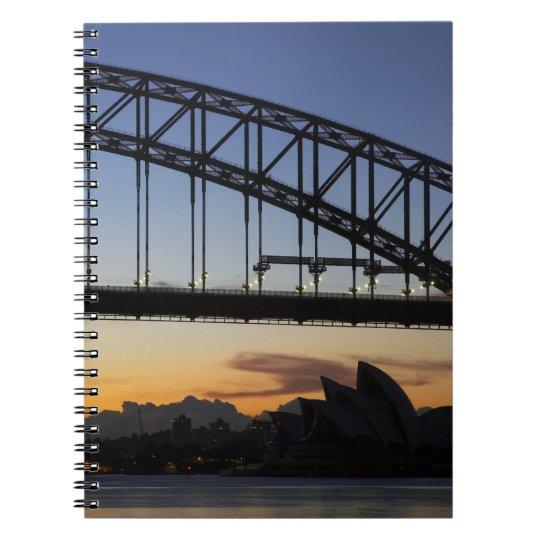 Sydney Harbor Bridge and Sydney Opera House at 2 Notebook