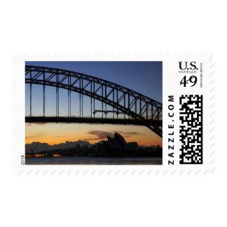 Sydney Harbor Bridge and Sydney Opera House at 2 Stamps