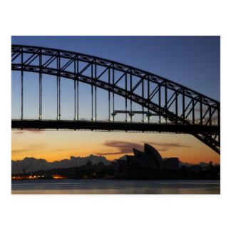 Sydney Harbor Bridge and Sydney Opera House at 2 Postcard