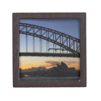 Sydney Harbor Bridge and Sydney Opera House at 2 Premium Trinket Boxes