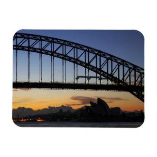 Sydney Harbor Bridge and Sydney Opera House at 2 Rectangular Photo Magnet