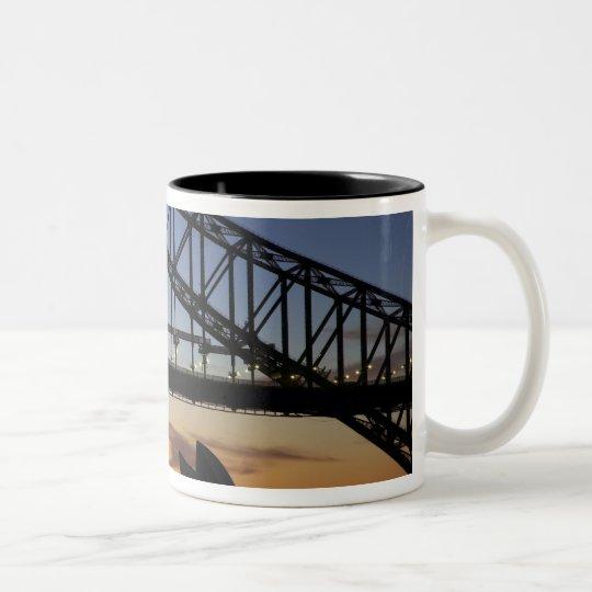 Sydney Harbor Bridge and Sydney Opera House at 2 Two-Tone Coffee Mug