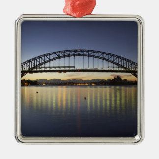 Sydney Harbor Bridge and Sydney Opera House at Metal Ornament