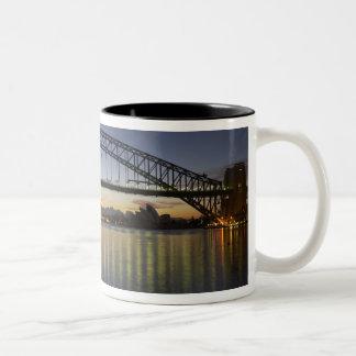 Sydney Harbor Bridge and Sydney Opera House at Two-Tone Coffee Mug