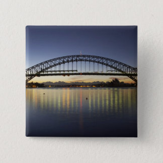 Sydney Harbor Bridge and Sydney Opera House at Pinback Button