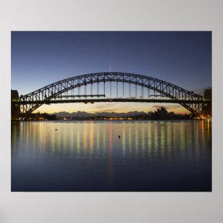 Sydney Harbor Bridge and Sydney Opera House at Poster