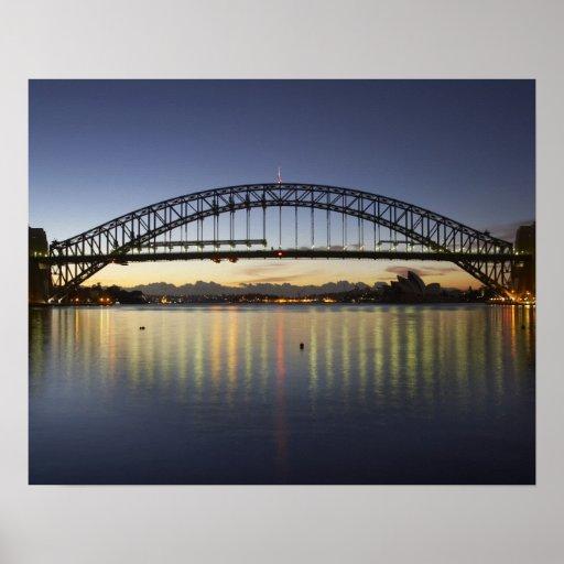 Sydney Harbor Bridge and Sydney Opera House at Print