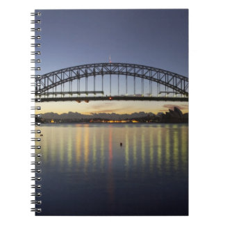 Sydney Harbor Bridge and Sydney Opera House at Spiral Notebook