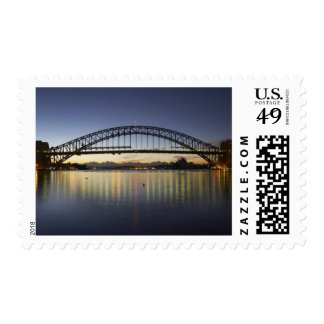 Sydney Harbor Bridge and Sydney Opera House at Stamp