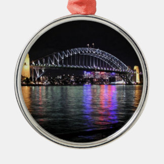 Sydney Harbor Bridge at Night Metal Ornament