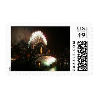 Sydney Harbor Bridge New Years Eve 2008 Postage Stamps