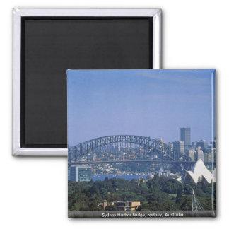 Sydney Harbor Bridge, Sydney, Australia 2 Inch Square Magnet