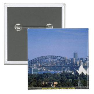 Sydney Harbor Bridge, Sydney, Australia Pinback Buttons