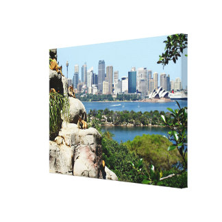 Sydney Harbor from the Zoo Canvas Print