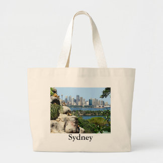 Sydney Harbor from the Zoo Large Tote Bag