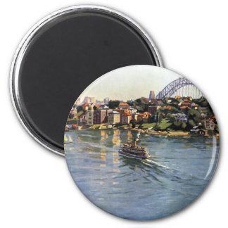 Sydney Harbour, Australia 2 Inch Round Magnet